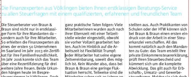TOP Arbeitgeber Steuerberater Braun