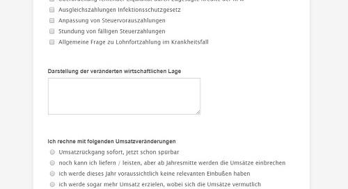 Screenshot Mandantenumfrage