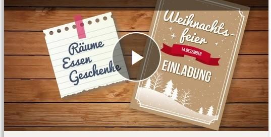 Video Weihnachtsfeier steuerlich absetzen