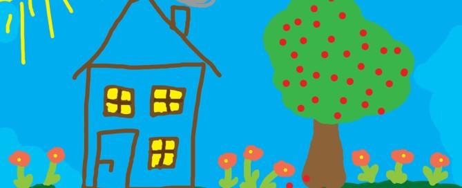 Kinderzeichnung Haus