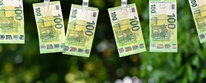 Geld auf der Wäscheleine