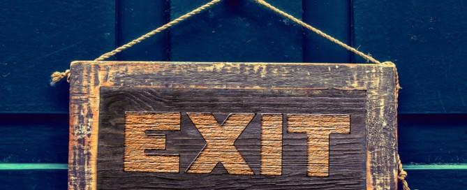 Exit Schild